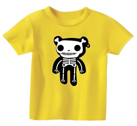 clothing shop: Teddy en los huesos Vectores