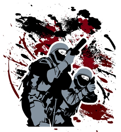 Elite soldiers Vector