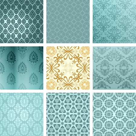 Retro backgrounds set Vector