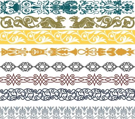 arabesque wallpaper: Retro set