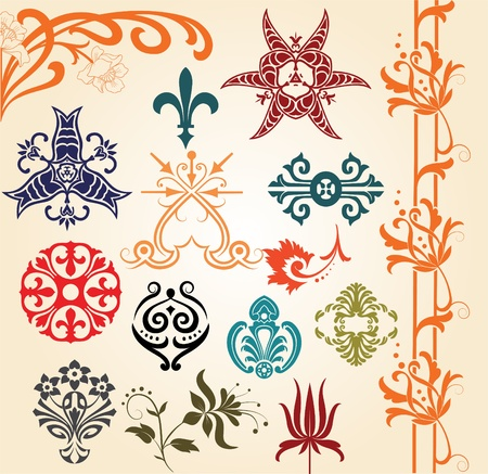ornaments set Stock Vector - 11858406