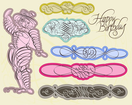 Vector set with exquisite calligraphic and ornamental designs Stock Vector - 11858518