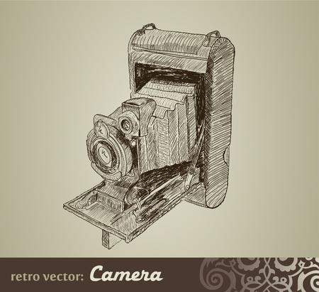 Old camera Vector
