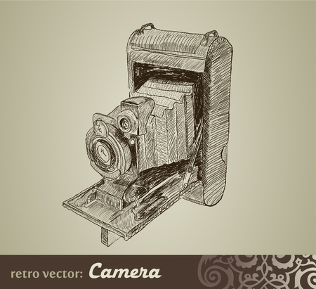 old photograph: Old camera