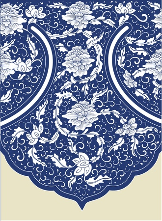 baroque pattern: Chinese background