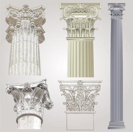 pilastri: Colonne impostare