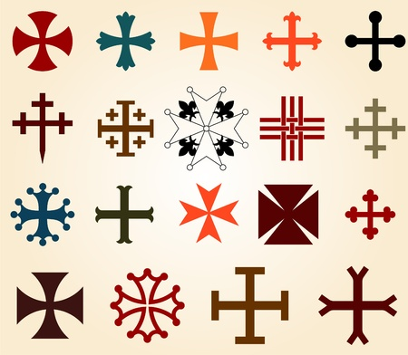 teutonic: crosses set Illustration