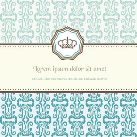 royal wedding: Baroque card