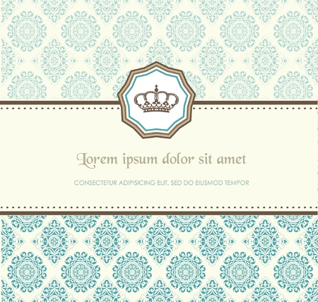 wedding frame: Baroque card