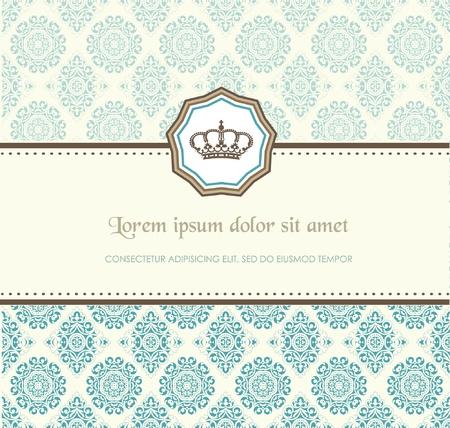 Baroque card Stock Vector - 11859035