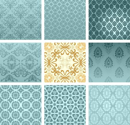 arabesque wallpaper: retro wallpaper set