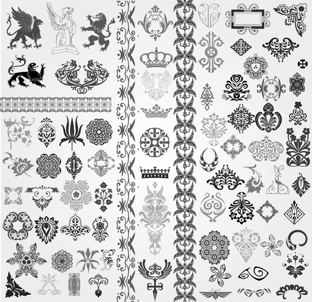 arabesque wallpaper: Baroque set