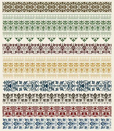 retro wallpaper set Stock Vector - 11858574