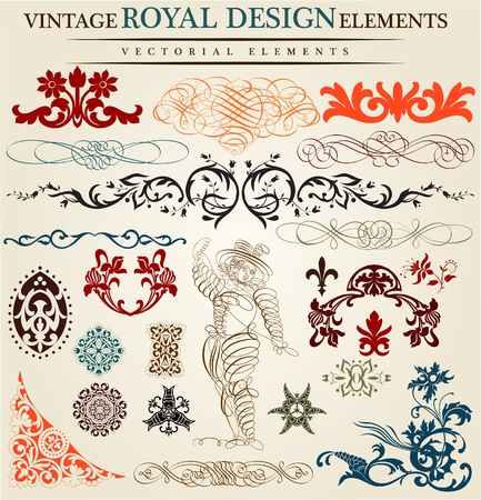 calligraphic elements Stock Vector - 11858534