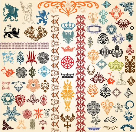 Baroque set Stock Vector - 11858614
