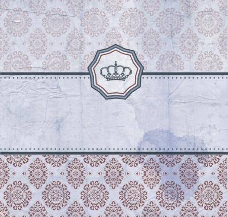 Baroque card Vector