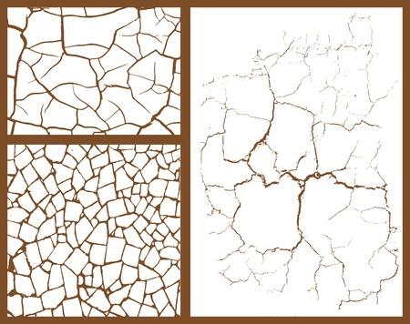 vetro rotto: set di cracking