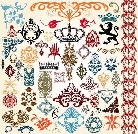 vintage set Stock Vector - 11929957