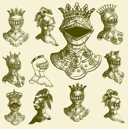 heraldic animal: set baroque Illustration