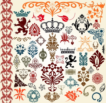 heraldic animal: Retro set