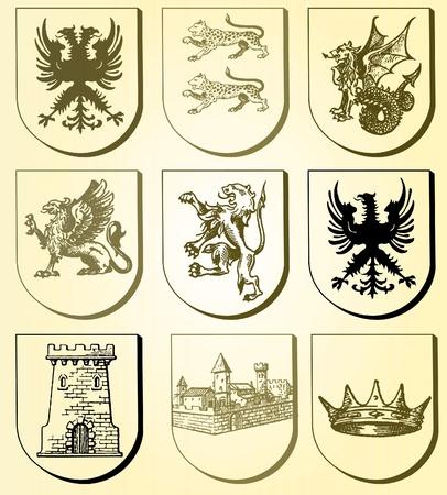 blasone: Heraldic set