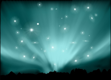 northern light: space background Illustration