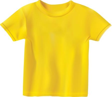 yellow T-shirt design template Stock Vector - 11985914