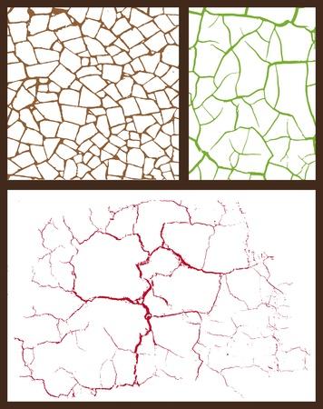 ceramic: conjunto de grietas Vectores