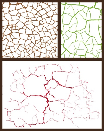 cracked set Stock Vector - 11985883