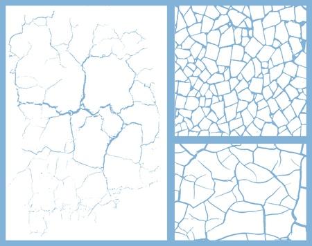 vidrio roto: conjunto de grietas Vectores