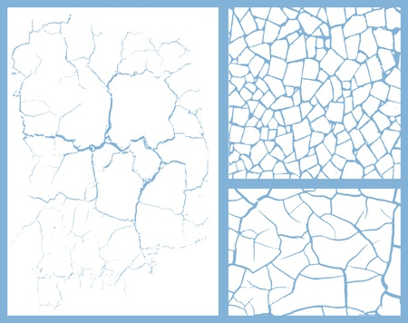 cracked set Stock Vector - 11985886