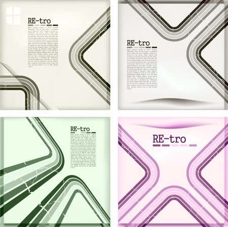 report cover design: retro backgrounds