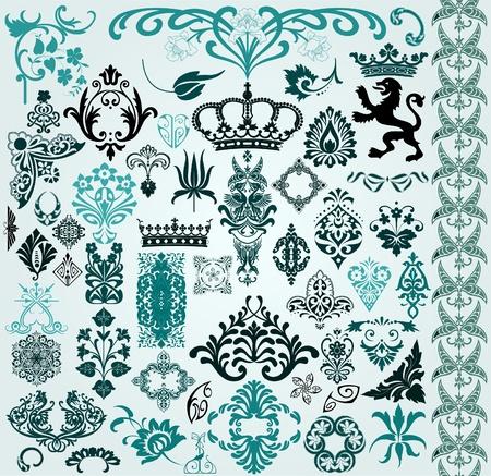 heraldry: retro wallpaper
