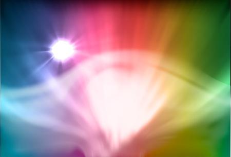 aurora: vectorial illustration of aurora polaris