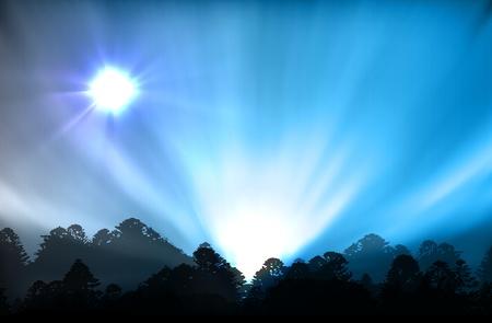 vectorial illustration of aurora polaris