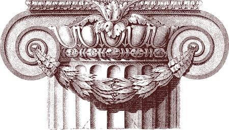 columna clásica Ilustración de vector