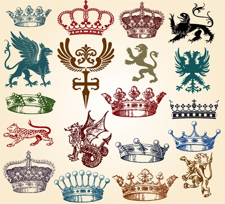 set crowns Stock Vector - 12134362