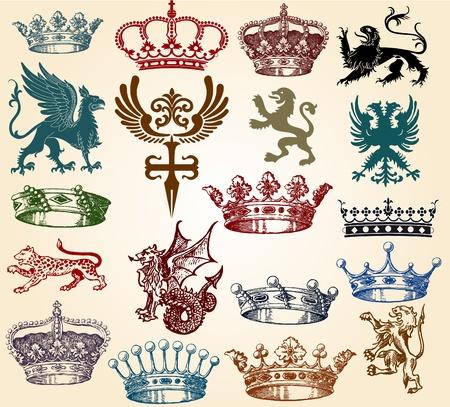 set crowns Stock Vector - 12134362