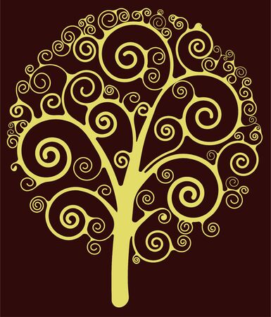 Swirl tree Stock Vector - 12134352