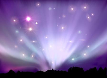 light landscape: aurora boreal