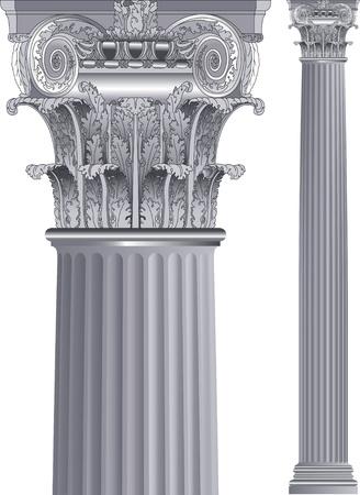 romanesque: classic column