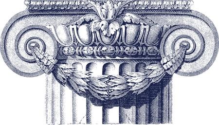 colonna romana: classico colonna Vettoriali