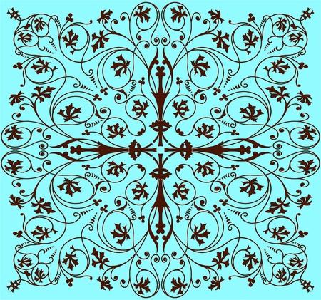 ornate swirls: retro wallpaper