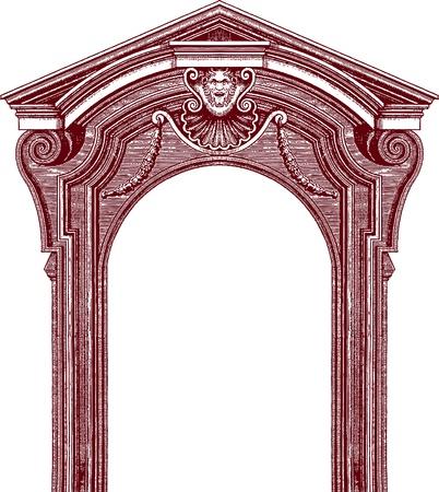 railings: classic door Illustration