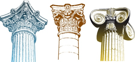 roman empire: classic columns