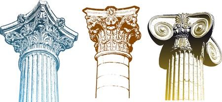 imperium: klassieke kolommen Stock Illustratie