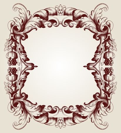 utsirad: barock ram Illustration