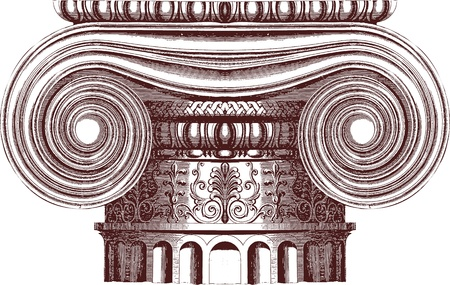 greek column: Vector Ionic column