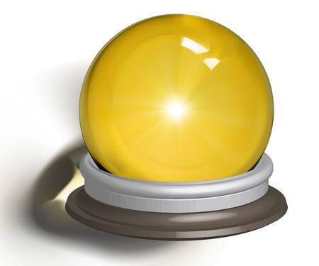 foretell: vectorial illustration of a magic crystal ball Illustration