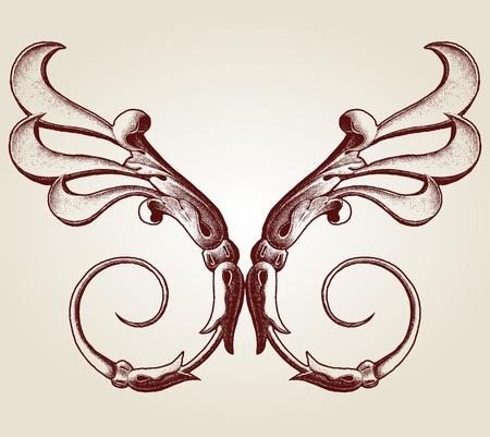 blasone: Design Illustrazione impostato con varie forme e decorazioni